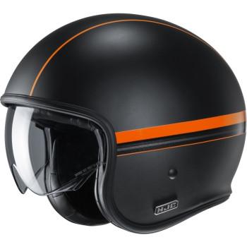 HJC Jethelm V30 Equinox Black/Orange