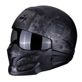 Scorpion Jethelm EXO-Combat Stealth Matt Black/Silver