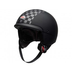 Bell Scout Air Jethelm Check Matt Black/White-XS