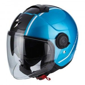 Scorpion Jethelm EXO-City Avenue Sky Blue/Black