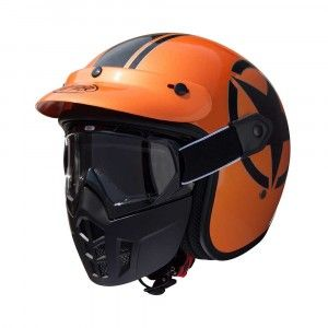 Premier Jethelm Vintage Mask Star Metallic Orange