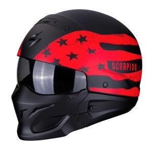 Scorpion Jethelm EXO-Combat Rookie Matt Black/Red