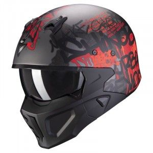 Scorpion Covert-X Jethelm Wall Dark Silver/Red