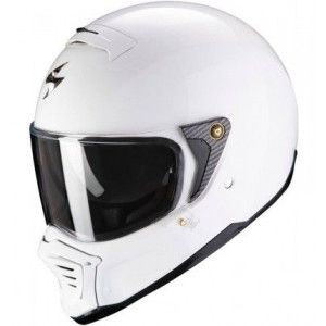 Scorpion Exo-Fighter Jethelm Solid White